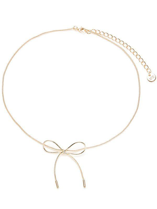 Affordable Bow Necklace with Lobster Clasp