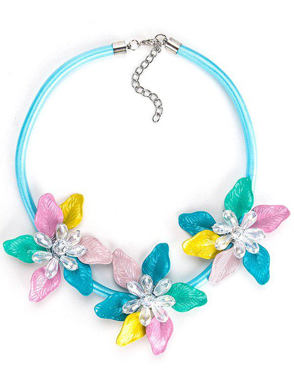 Discount Alloy Necklace with Flower Pendant