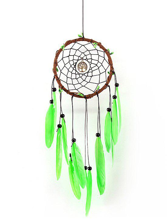 Unique Wall Hanging Decor Metal Tree Beads Feather Dream Catcher