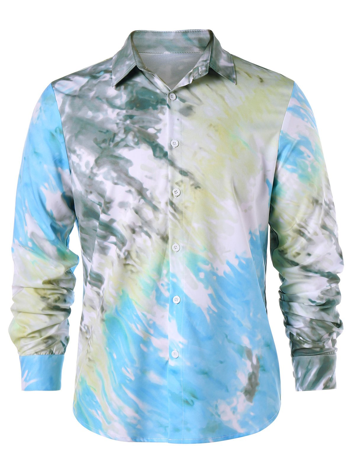 Fancy Long Sleeve Tie Dye Shirt