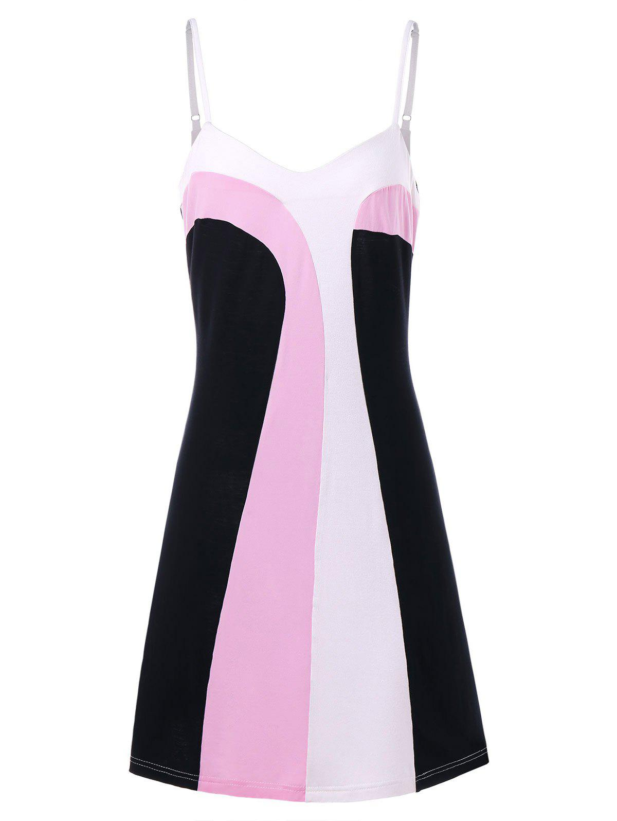 Affordable Hit Color Spaghetti Strap Dress