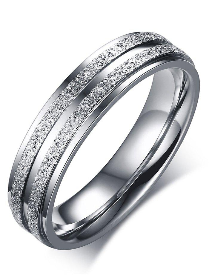 Chic Stainless Steel Double Round Finger Ring