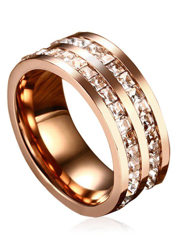 Discount Sparkle Rhinestone Alloy Band Ring