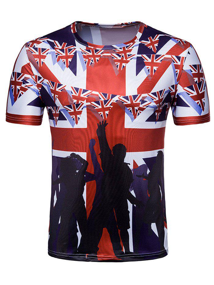 Latest Crew Neck Fans Flag of England Print T-shirt