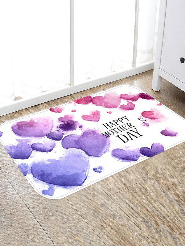 Discount Many Hearts Shaped Print Antiskid Floor Rug