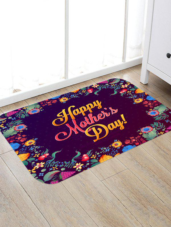 Online Happy Mother's Day Flowers Print Floor Area Rug