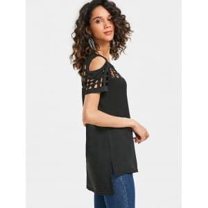 Cage Cut Out Cold Shoulder Tee -