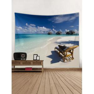 Wall Hanging Art Fine Day Beach Print Tapestry -