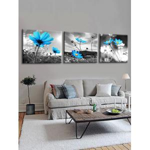 Swaying Wild Flowers Printed Wall Decor Canvas Paintings -