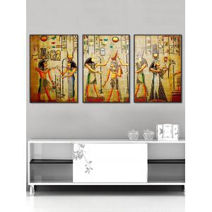 Split Wall Art Canvas Egyptian Elements Paintings -
