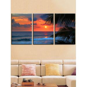 Seaside Sunset Glow Printed Wall Decor Canvas Paintings -