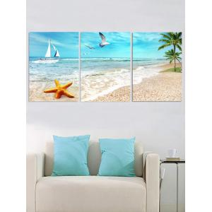 Starfish Beach Scenery Printed Unframed Canvas Paintings -