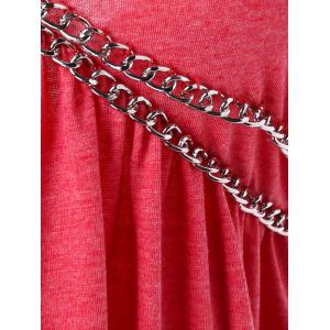 Chains Embellished Strappy T-shirt -