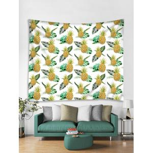 Wall Hanging Art Tropical Pineapple Print Tapestry -