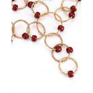 Metal Circles Beads Necklace with Earring Set -