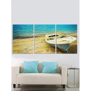 Wall Decor Seaside Boat Printed Canvas Paintings -