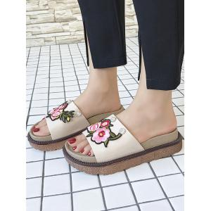 Outdoor Casual Floral Decorated Platform Slides -
