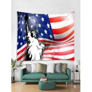 Wall Hanging Art US Flag Statue of Liberty Print Tapestry -
