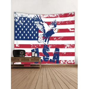 Wall Hanging Art American Flag Eagle Print Tapestry -