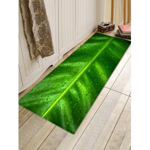 Leaf Raindrop Pattern Water Absorption Area Rug -