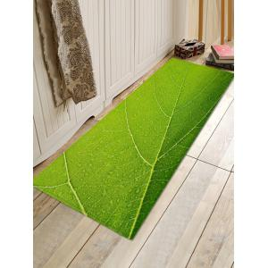 Leaf Texture Pattern Water Absorption Area Rug -