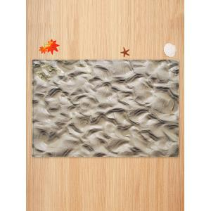 Indentations In The Mud Pattern Water Absorption Area Rug -