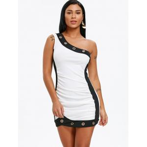 Grommets Insert Mini Bodycon Dress -