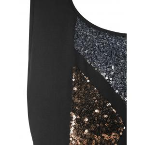 Plus Size Sleeveless Sparkly High-low Top -