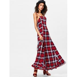 Plaid Maxi Cami Dress -