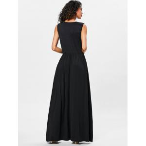 Surplice Neck Pleated Maxi Dress -