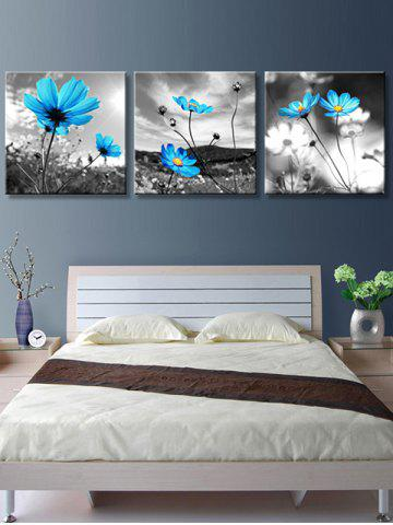 Outfit Swaying Wild Flowers Printed Wall Decor Canvas Paintings