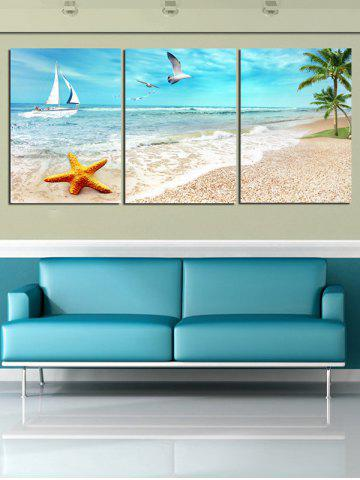 Hot Starfish Beach Scenery Printed Unframed Canvas Paintings