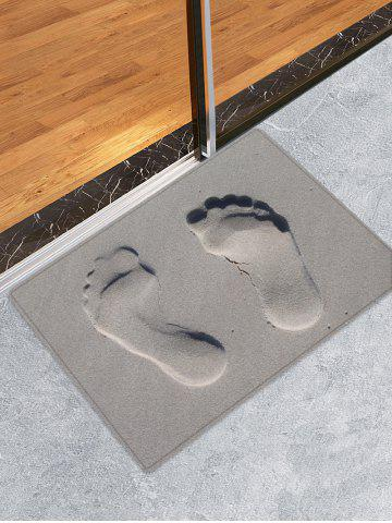 Hot Sandbeach Footprint Pattern Water Absorption Area Rug