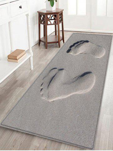 Affordable Sandbeach Footprint Pattern Water Absorption Area Rug