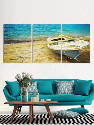 New Wall Decor Seaside Boat Printed Canvas Paintings