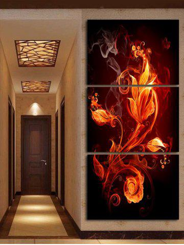 New Flame Flower Printed Canvas Paintings Wall Decoration