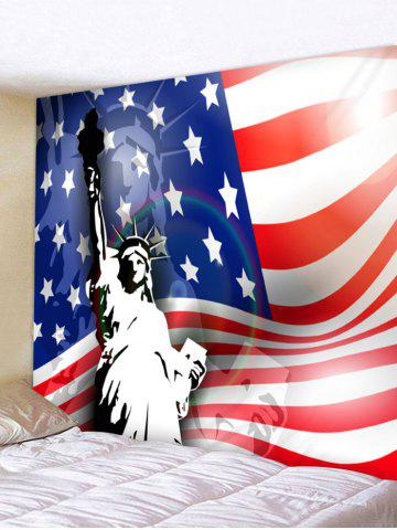 Cheap Wall Hanging Art US Flag Statue of Liberty Print Tapestry