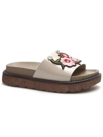 Fashion Outdoor Casual Floral Decorated Platform Slides
