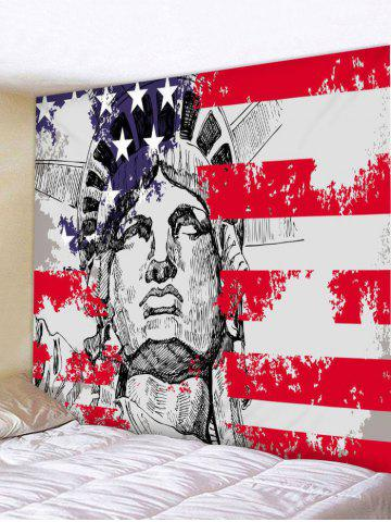 Outfit Wall Decor Statue of Liberty American Flag Print Tapestry