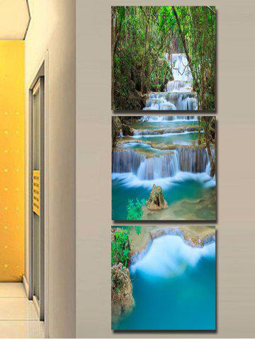 46ac2a4dbe4 Forest Cascade Falls Printed Wall Art Split Canvas Paintings