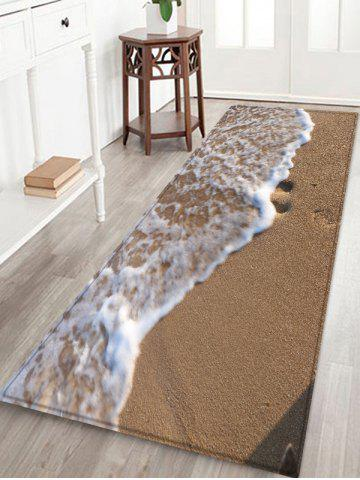 Online Sandbeach Wave Pattern Water Absorption Area Rug