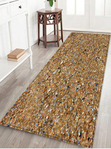 Hot Beach Stones Pattern Water Absorption Area Rug