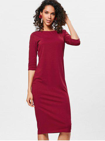 Wine Color Bodycon Dress Free Shipping Discount And Cheap Sale
