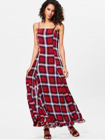 Plaid Maxi Cami Dress