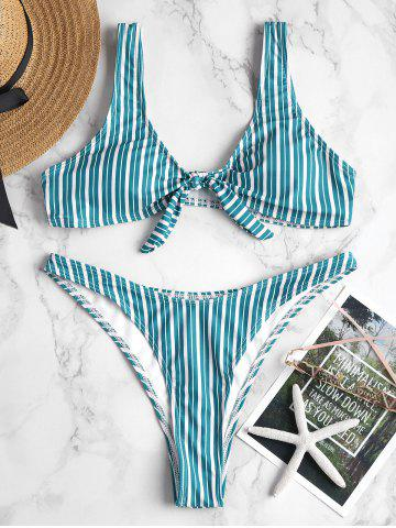 Shop Knot Striped High Cut Bikini
