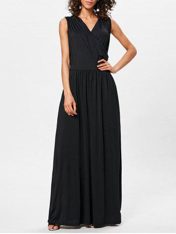 Outfit Surplice Neck Pleated Maxi Dress