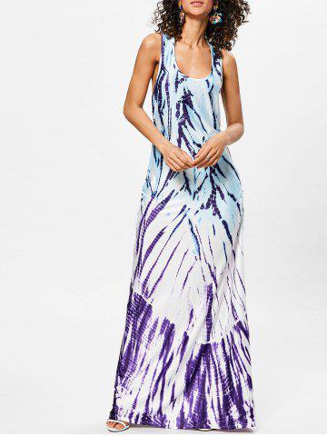 Chic Scoop Neck Racerback Maxi Dress