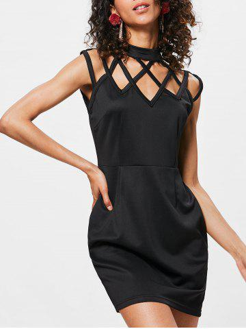 Affordable High Neck Cut Out Mini Dress