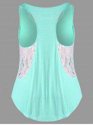 Lacy Insert Plus Size Swing Tank Top -