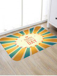 Happy Mother's Day Striped Print Floor Rug -